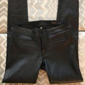 DL1961 Black Leather Pants